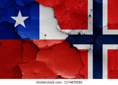 flags of Chile and Norway