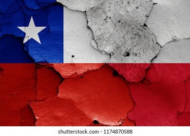 flags of Chile and Poland
