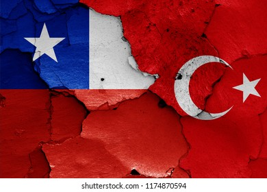 flags of Chile and Turkey