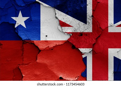 flags of Chile and UK
