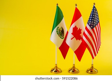 flags of the countries of North America