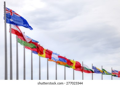 Flags of countries of participants of the Winter Olympic games 2014 year