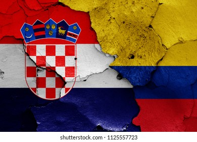 flags of Croatia and Colombia