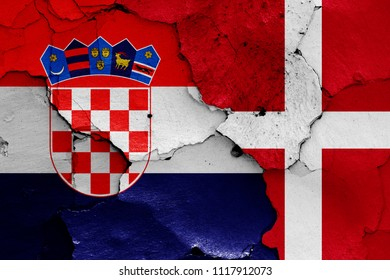 flags of Croatia and Denmark