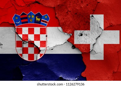 flags of Croatia and Switzerland