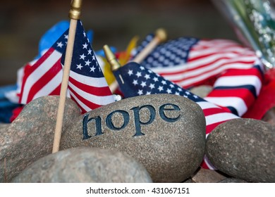 Flags embedded in hope