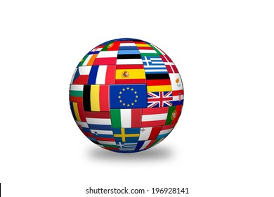 Balls country flag images stock photos vectors shutterstock flags of eu countries on globe sphere ball freerunsca Image collections