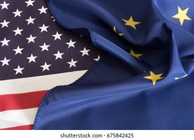 Flags of the EU and USA