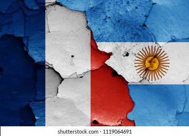 flags of France and Argentina