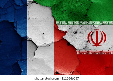 flags of France and Iran