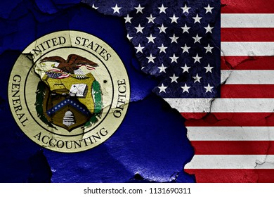 flags of General Accounting Office and USA