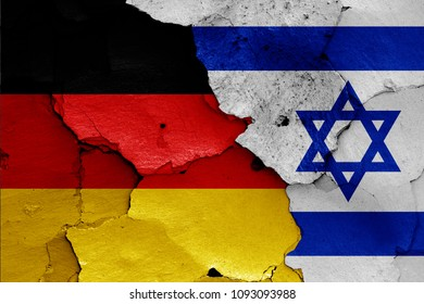 flags of Germany and Israel