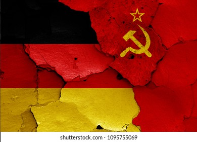 flags of Germany and Soviet Union