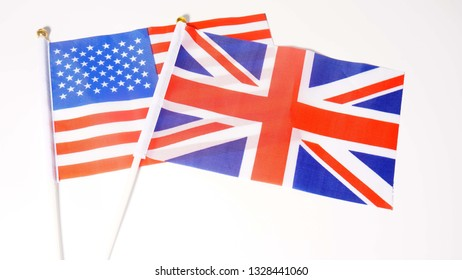 Flags of Great Britain and USA