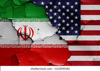 flags of Iran and USA