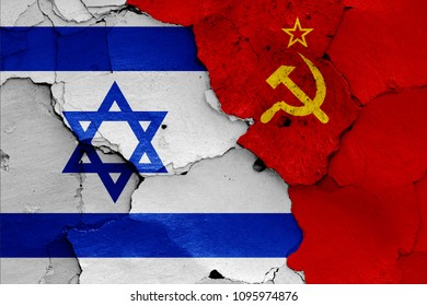 flags of Israel and Soviet Union
