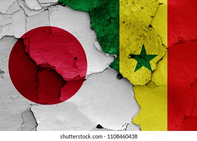 flags of Japan and Senegal