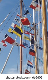 flags and masts