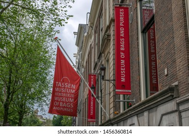 Flags Of Museum Of Bags And Purses At Amsterdam The Netherlands 2019