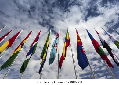 Flags of Nations at the Asian African Conference in Bandung, Wes