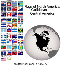 Flags of North America, Carribean and Central America, the complete set