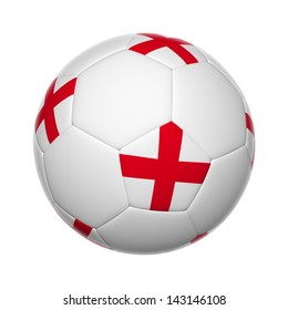 Flags on soccer ball of England