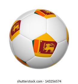 Flags on soccer ball of Sri Lanka