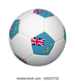 Flags on soccer ball of Tuvalu