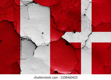 flags of Peru and Denmark