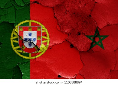 flags of Portugal and Morocco