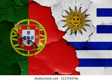 flags of Portugal and Uruguay