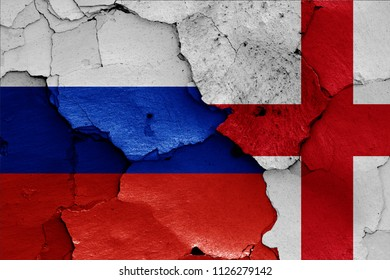 flags of Russia and England