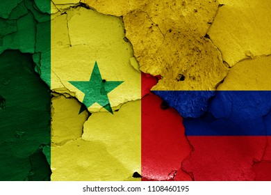 flags of Senegal and Colombia