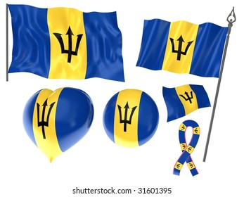 Flags set of Barbados, Bridgetown