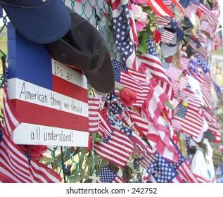 Flags at Shanksville crash site.