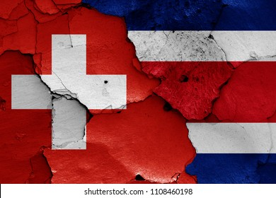 flags of Switzerland and Costa Rica