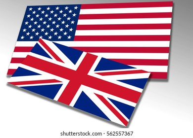 Flags of the United States of America and the United Kingdom