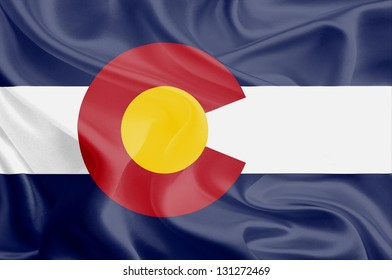 Flags of the U.S. states: Waving Fabric Flag of Colorado