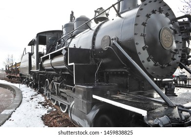 FLAGSTAFF, AZ / USA - DECEMBER 17 2010:  Flagstaff Baldwin Locomotive  #25, known as Old Two Spot, near the Flagstaff train station, was built in 1911 in Pennsylvania