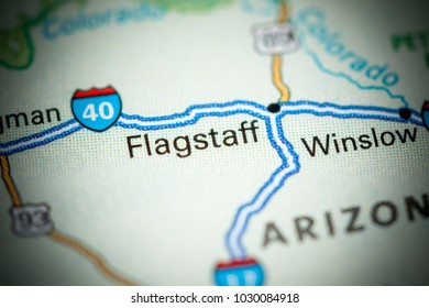 Flagstaff. USA on a map.