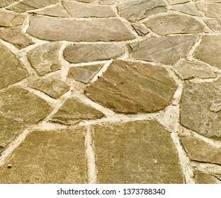 Flagstone concrete floor