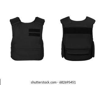 Flak jacket isolated on white background