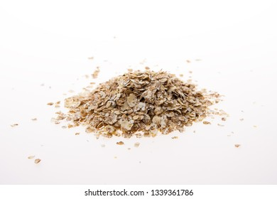 Flaked oats isolated on a white background