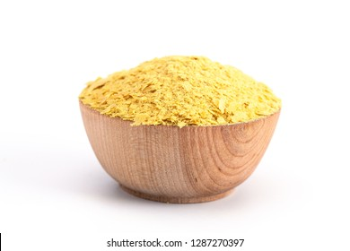 Flakes of Yellow Nutritional Yeast a Cheese Substitute and Seasoning for Vegan Cooking