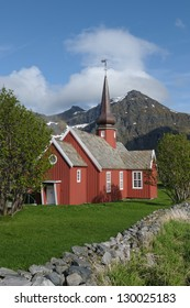 Flakstad church from 1780, Lofoten Norway