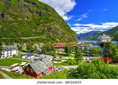 Flam at the Inner End of Aurlandsfjord, Norway