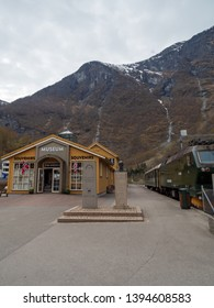 Flam, Norway - Apr 20th, 2019: Flam railway museume. The museum yields a insight of the steepest railway in the world, as well as displays the day-to-day life of the engineers who built this.