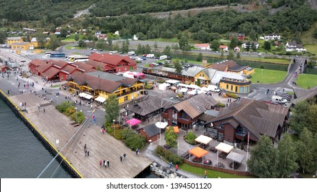 FLAM, NORWAY - CIRCA 2018: The famous Flam railway station(flamsbana) in Norway.