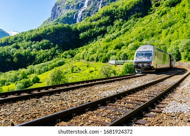 Flam Railway, Aurland, Norway travel background