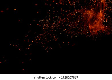 flame of fire with games on a black background